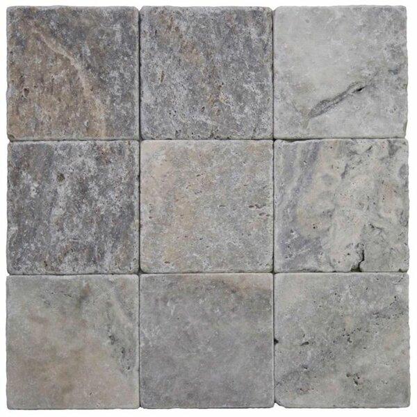 4 x 4 Travertine Grid Wall & Floor Tile