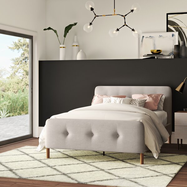 Ellicott Upholstered Platform Bed by Mercury Row