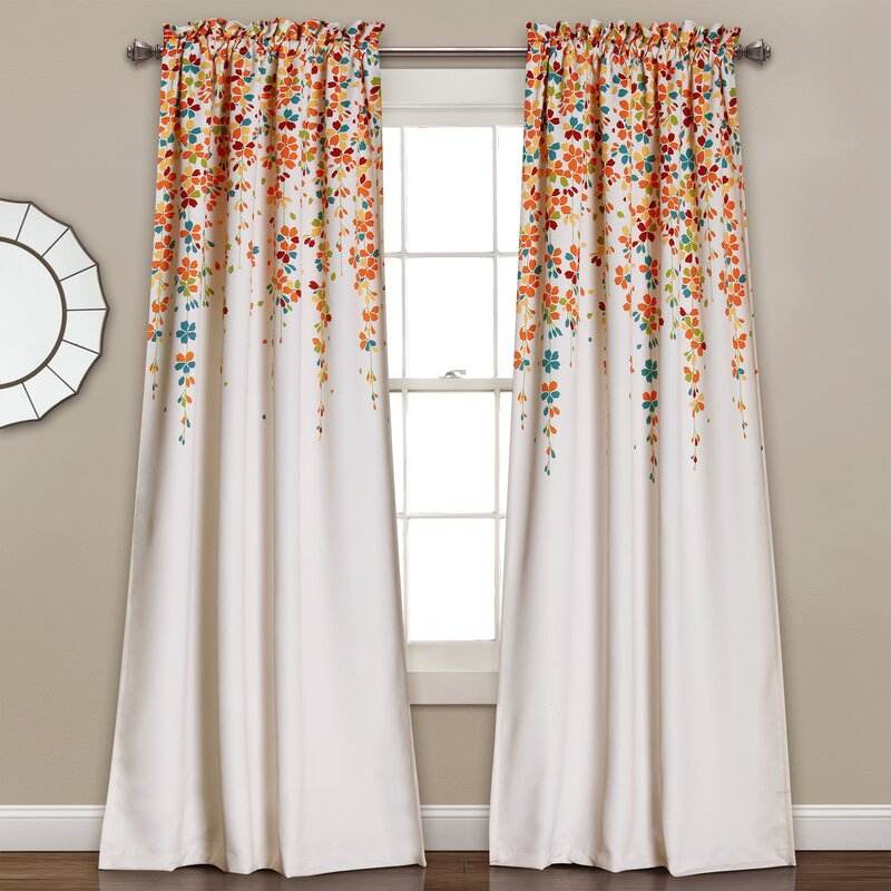 Latitude Run Cumberland Nature/Floral Room Darkening Thermal Rod ...