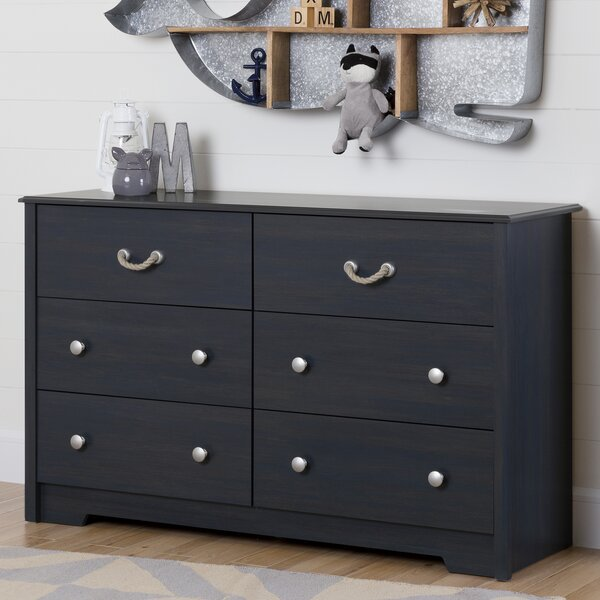 Aviron 6 Drawer Double Dresser by South Shore