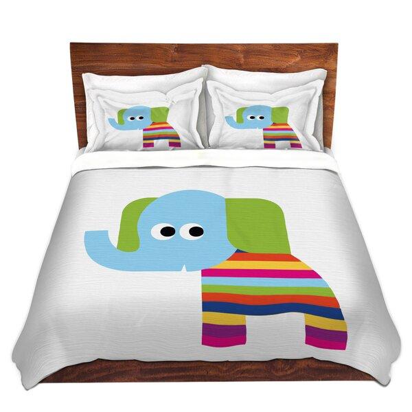 Rainbow Elephant Duvet Cover Set