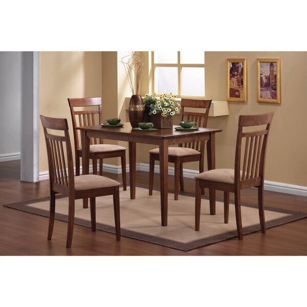Claverley 5 Piece Solid Wood Dining Set by Fleur De Lis Living