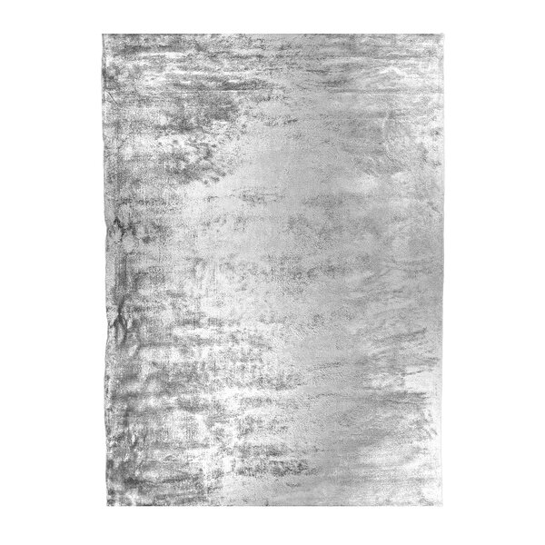 Hand-Tufted Gunmetal Silver Area Rug by Mats Inc.