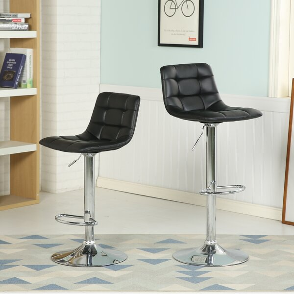Iacovelli Adjustable Height Swivel Bar Stool by Orren Ellis