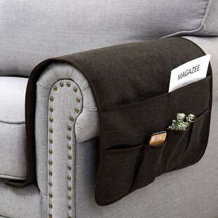 Sofa Armrest Couch Arm Chair Storage Organizer with 6 Pockets