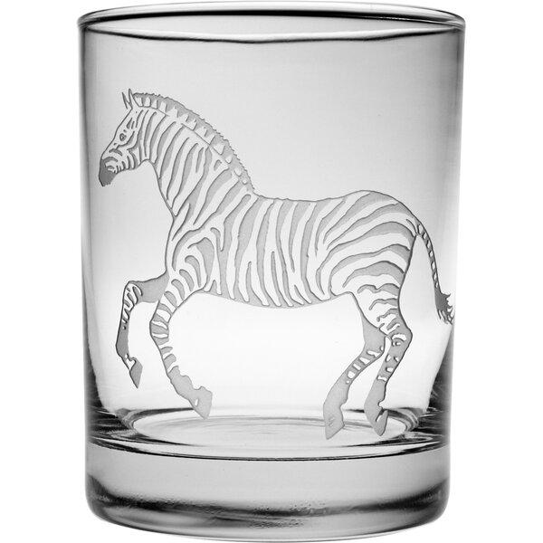 Zebra Rocks Glass (Set of 4) by Susquehanna Glass