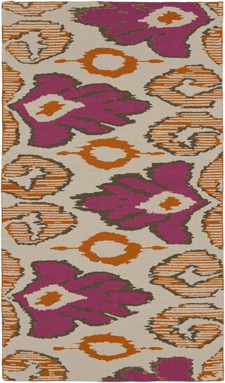Alameda Hand woven Pink/Tan Area Rug by Beth Lacefield for Surya