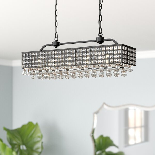 Madilynn 5 - Light Unique/Statement Tiered Chandelier by Everly Quinn Everly Quinn