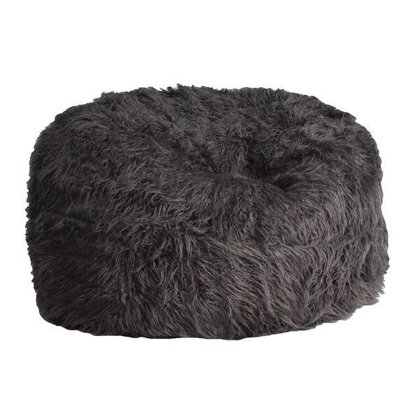 Large Faux Fur Classic Bean Bag By Rosdorf Park