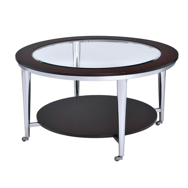 Lindel Glass Inserted Top Coffee Table By Wrought Studio