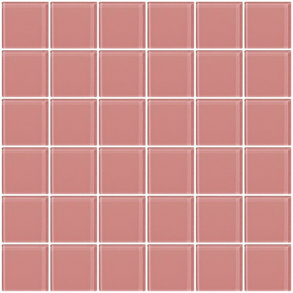 Bijou 22 2 x 2 Glass Mosaic Tile in Pink by Susan Jablon