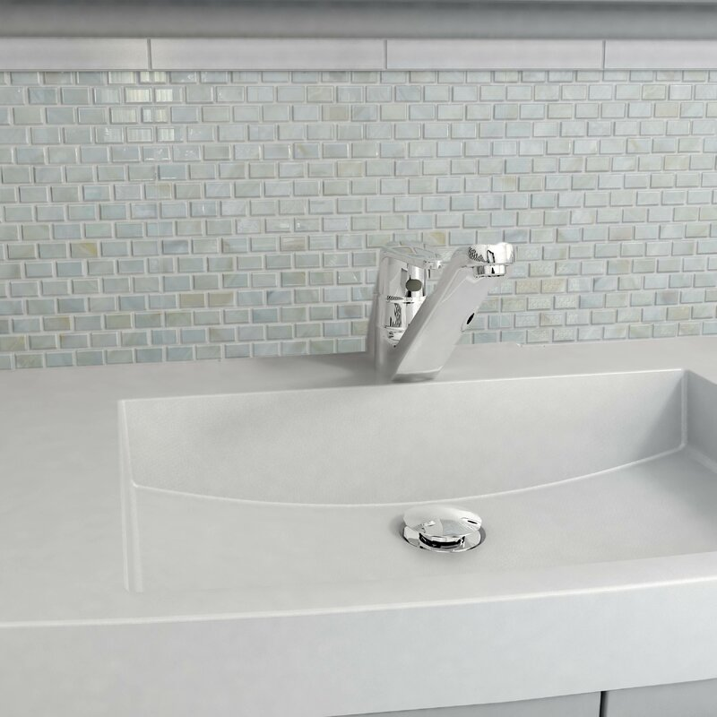 EliteTile Shore 1 x 1 Seashell Mosaic Wall Tile in White Reviews