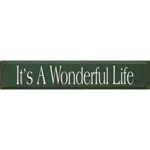 It's A Wonderful Life Textual Art Plaque