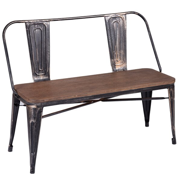 Phina Metal Bench by Williston Forge Williston Forge