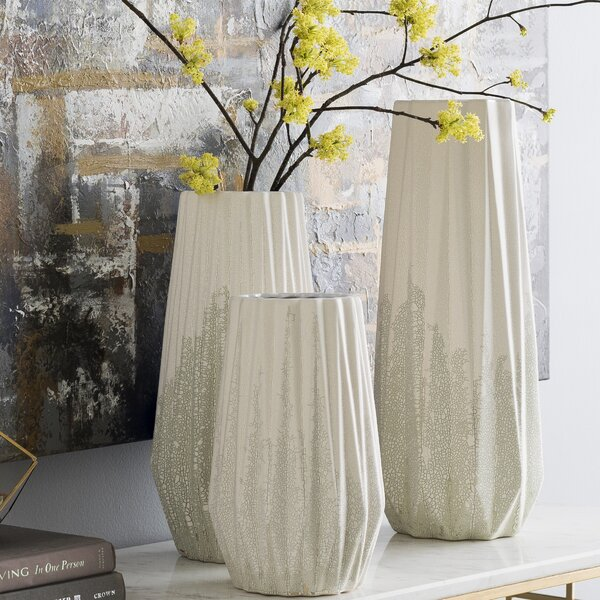 Richter Sage Transitional 3 Piece Table Vase Set by Bay Isle Home