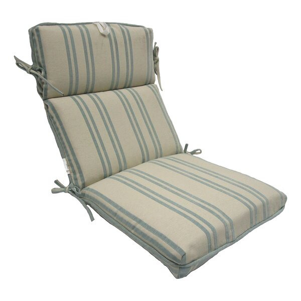 Stripe High Back Outdoor Lounge Chair Cushion by Highland Dunes