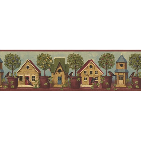 Classic Brewster Wallcovering Bird Houses Wallpaper Border