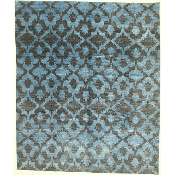 One-of-a-Kind Cornelia Hand-Knotted Blue Area Rug by Isabelline