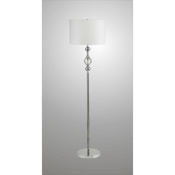 Ash Metal and Crystal 63 Floor Lamp by House of Hampton