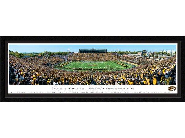 NCAA Missouri, University of - 50 Yard Line Day by James Blakeway Framed Photographic Print by Blakeway Worldwide Panoramas, Inc