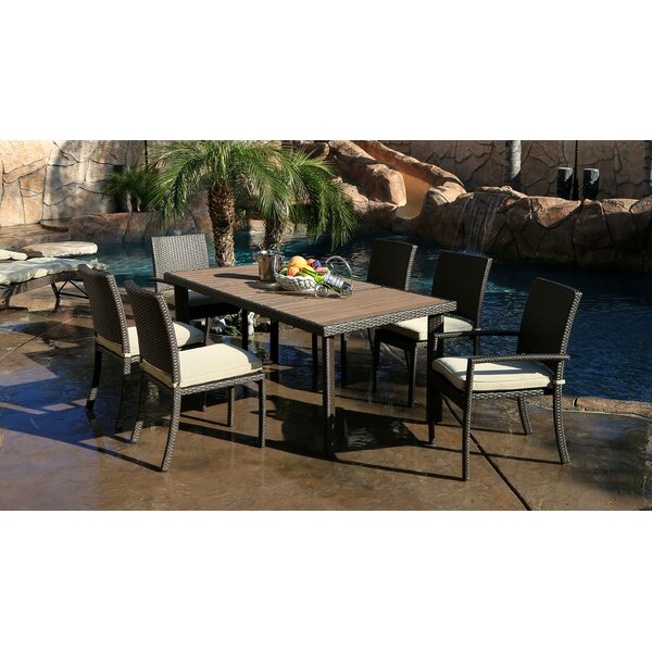 Hasan 7 Piece Dining Set with Cushions by Brayden Studio