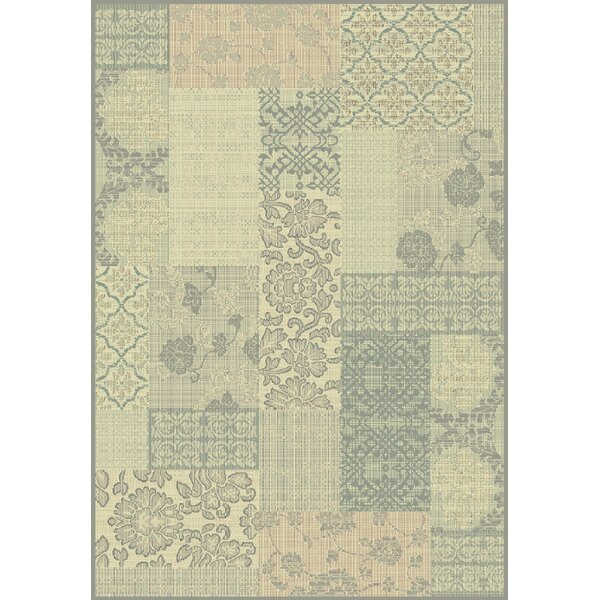 Pascual Cream/Light Blue Area Rug by Winston Porter