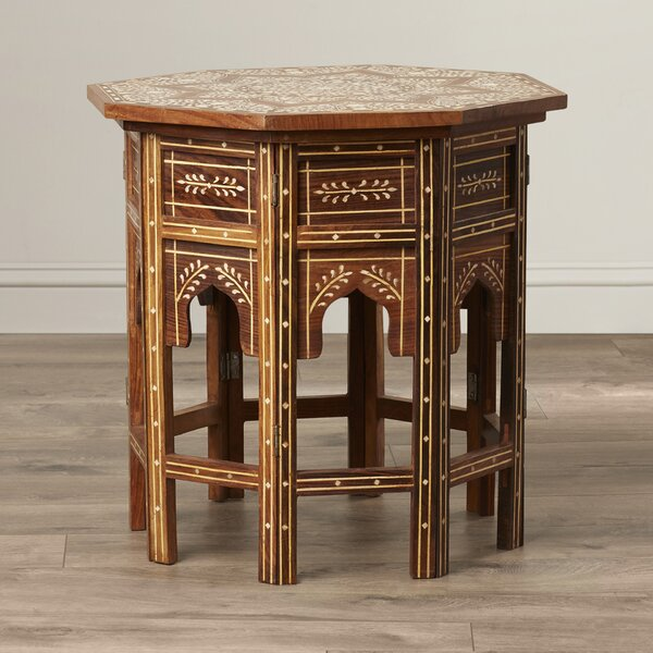 Khalaf Inlay End Table by Bungalow Rose