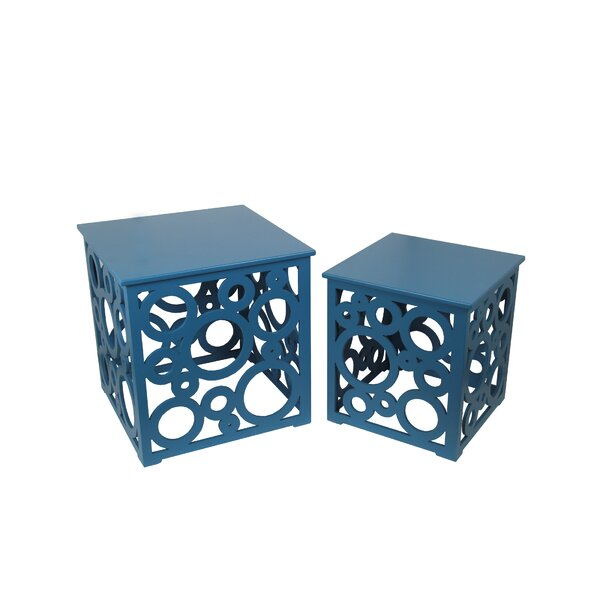 Scruggs Solid Wood Block Nesting Tables By Longshore Tides