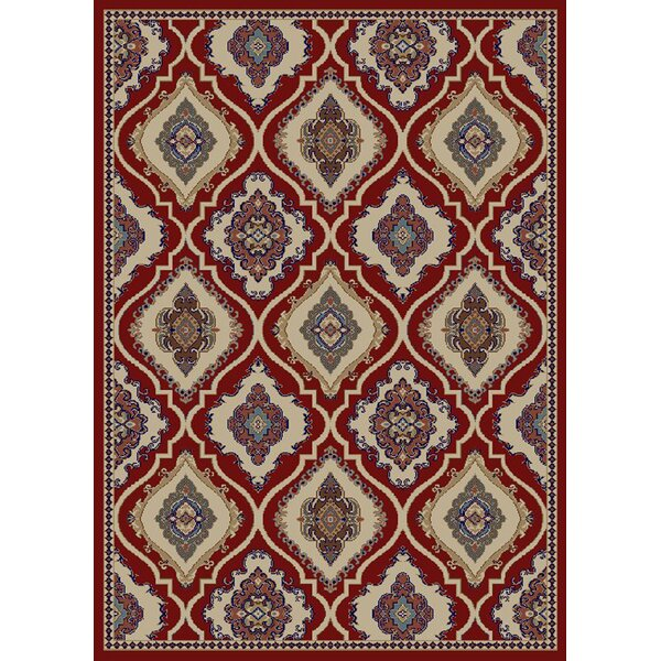 Hometown Classic Panel Claret Area Rug by Mayberry Rug