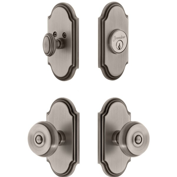Arc Single Cylinder Knob Combo Pack with Bouton Knob by Grandeur