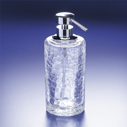 Crackled Round Crystal Glass Soap Dispenser by Windisch by Nameeks