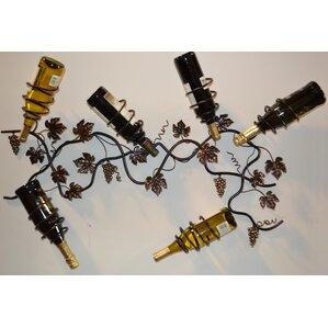 6 Bottle Wall Mounted Wine Rack by J & J Wire