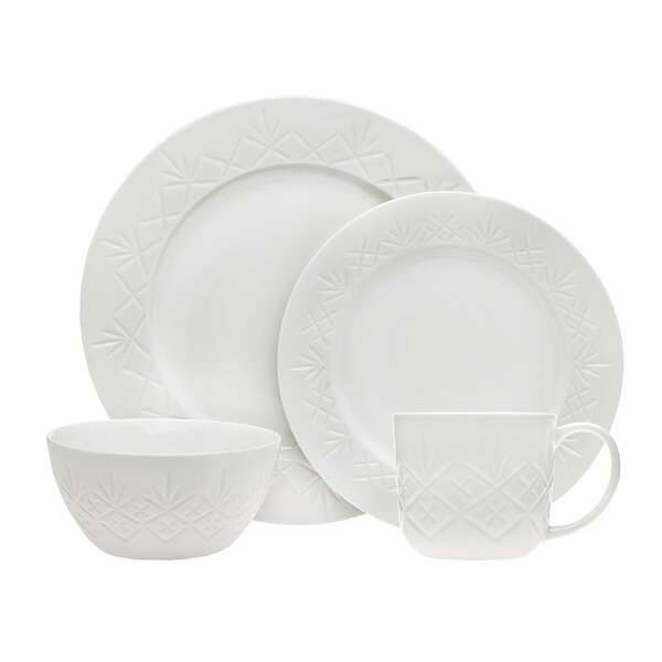 Dublin 16 Piece Dinnerware Set, Service for 4 by Godinger Silver Art Co