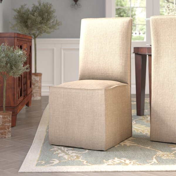 Slipcovered Cotton Upholstered Side Chair By Design Tree Home