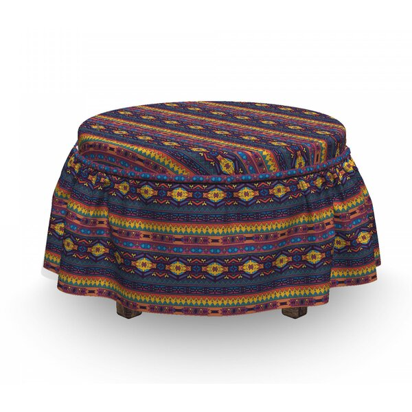 Folkloric Ottoman Slipcover (Set Of 2) By East Urban Home
