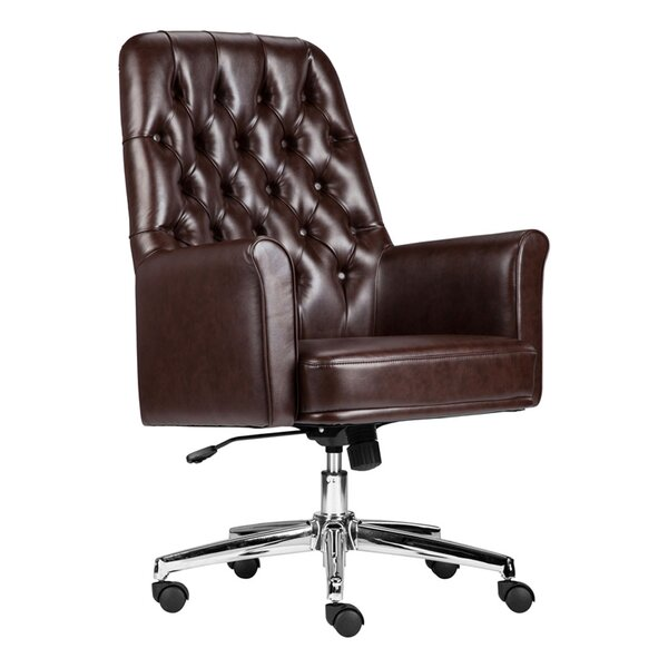 Dipaolo Mid-Back Swivel Executive Chair by Darby Home Co