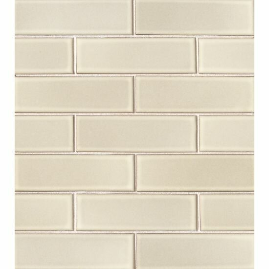 Reverie 2 x 6 Porceclain Mosaic Tile in Beige by Grayson Martin