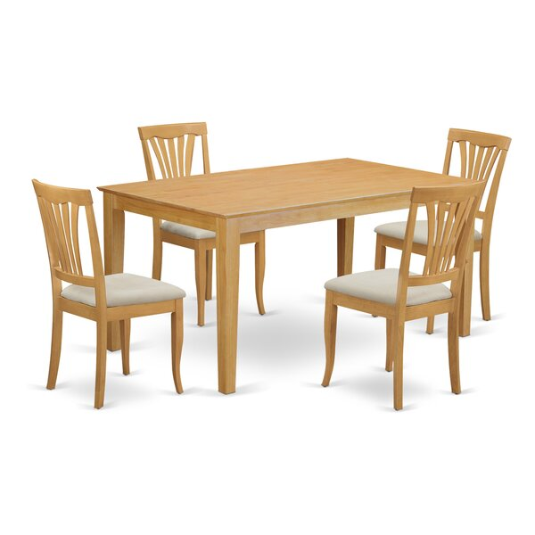 Alingtons 5 Piece Dining Set by Winston Porter
