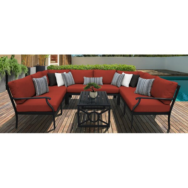 Kathy Ireland Homes & Gardens Madison Ave. 9 Piece Sectional Seating Group With Cushions By Kathy Ireland Home & Gardens By TK Classics by Kathy Ireland Home & Gardens by TK Classics #1