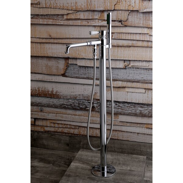 Paris Single Handle Floor Mount Roman Freestanding Tub Filler with Hand Shower by Kingston Brass Kingston Brass
