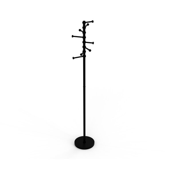 Free Standing Coat Rack with Six Pivoting Pegs by Allied Brass