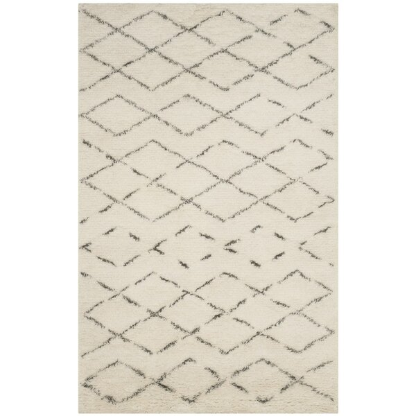 Eleftheria Hand-Tufted Beige Area Rug by Brayden Studio