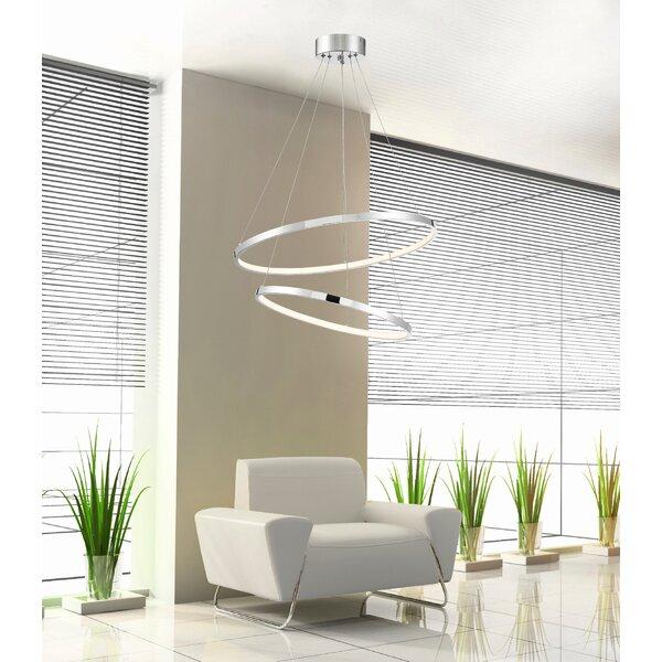 Sona 2 - Light LED Unique / Statement Tiered LED Chandelier by Orren Ellis Orren Ellis