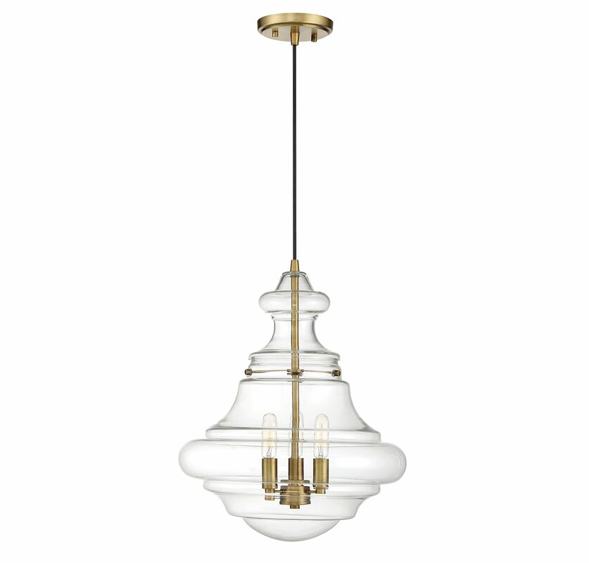 home schoolhouse light clear glass polished collection p flushmount lights shade semi decorators vintage with in lighting nickel