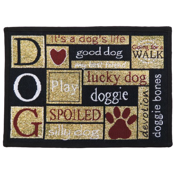 Leishman I Love Dogs Tapestry Area Rug by Winston Porter