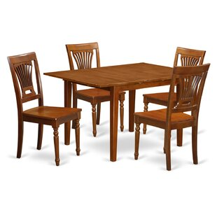 Lorelai 5 Piece Dining Set in, Non-Upholstered Wood By Alcott Hill