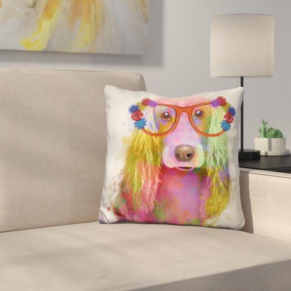 Cocker Spaniel Portrait Throw Pillow by East Urban Home