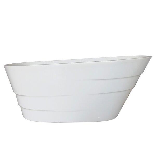 Podova 67 x 32 Freestanding Soaking Bathtub by Vinnova