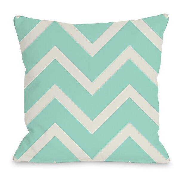 Sophia Chevron Throw Pillow by One Bella Casa