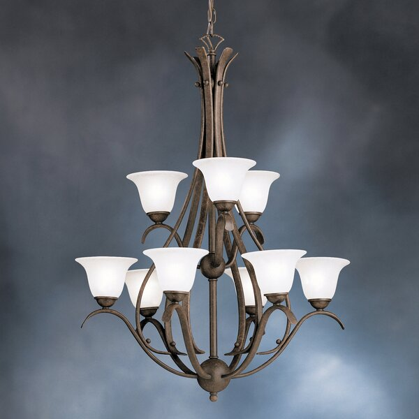 Cayman 9-Light Shaded Tiered Chandelier By Alcott Hill